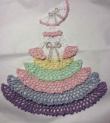 Crochet Crinoline Lady Doily - Colorful Delight