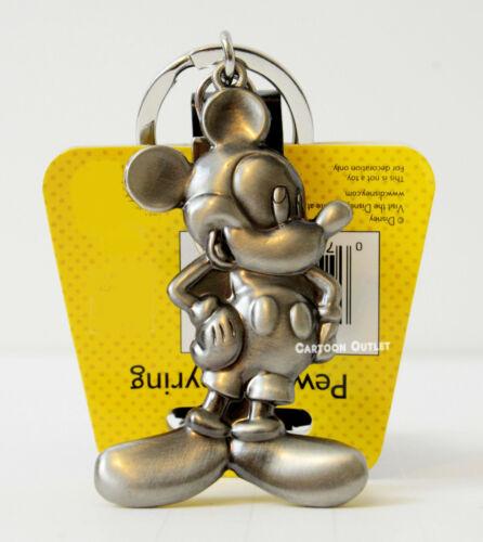 Disney Mickey Mouse Key Chain Pewter Metal Key Ring Birthday Gift Original New