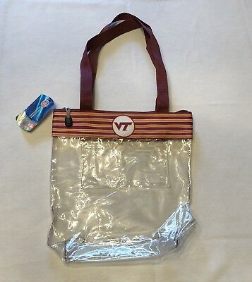 VIRGINIA TECH HOKIES CLEAR GAME DAY BAG STADIUM APPROVED PURSE