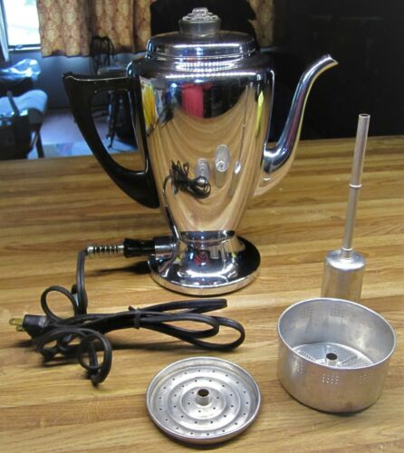 Vintage Mirro-Matic 112M 8 Cup Electric Percolator/Nice & Clean/Tested Perfect