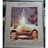 SPACE SHUTTLE COLUMBIA FRIST STS - PHOTOGRAPH SIGNED BY JOHN YOUNG, BOB CRIPPEN