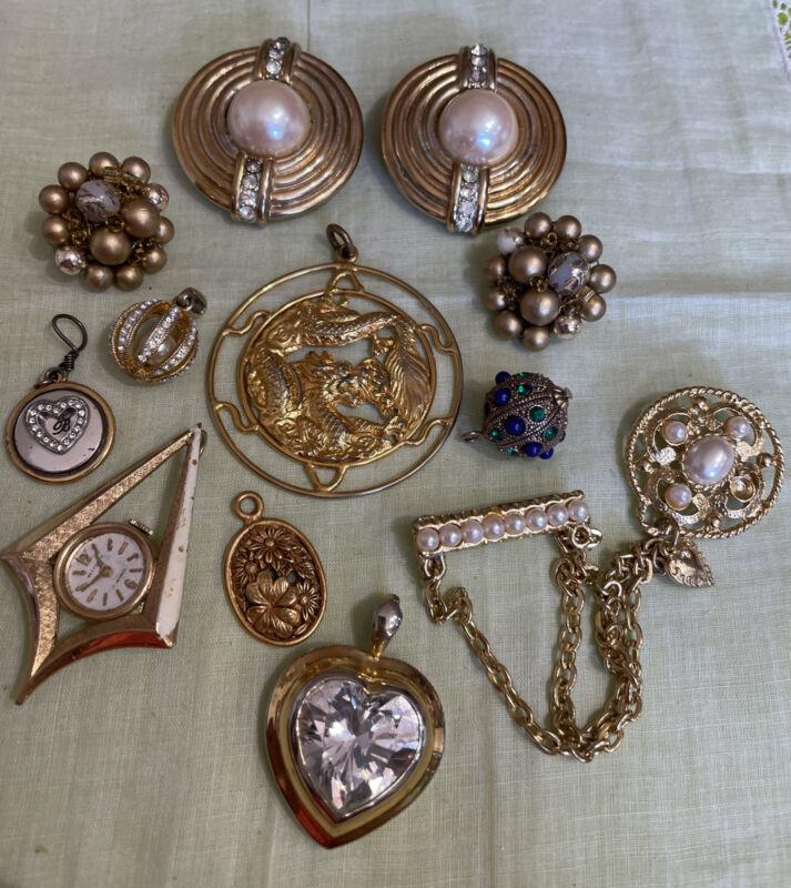 Vintage Rhinestone Crafting Jewelry Part Repair Harvest Repurpose CRF6-48