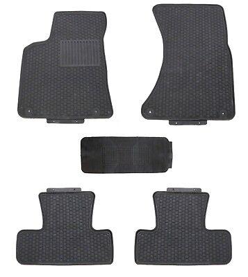 Floor Mats for 2009-2017 Audi Q5 Custom Fit Shape Black Rubber All Weather