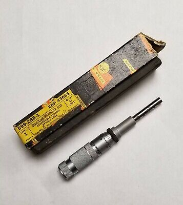 Vintage Brown Sharpe 599-288-1 Slantline Micrometer Head 0-1 X .001