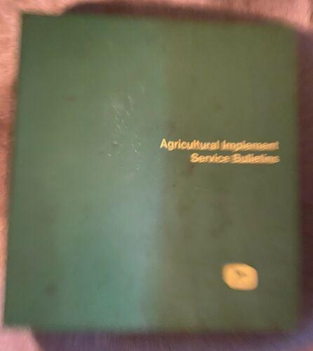 1966 John Deere Agricultural Implement Service Bulletins/ Manual