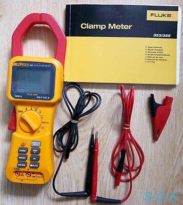 Fluke 355 Acdc Clamp Meter 2000 Amps True Rms - Full Set 24970036