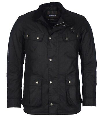 Barbour International Steve McQueen Collection Black Duke Waxed Cotton Jacket