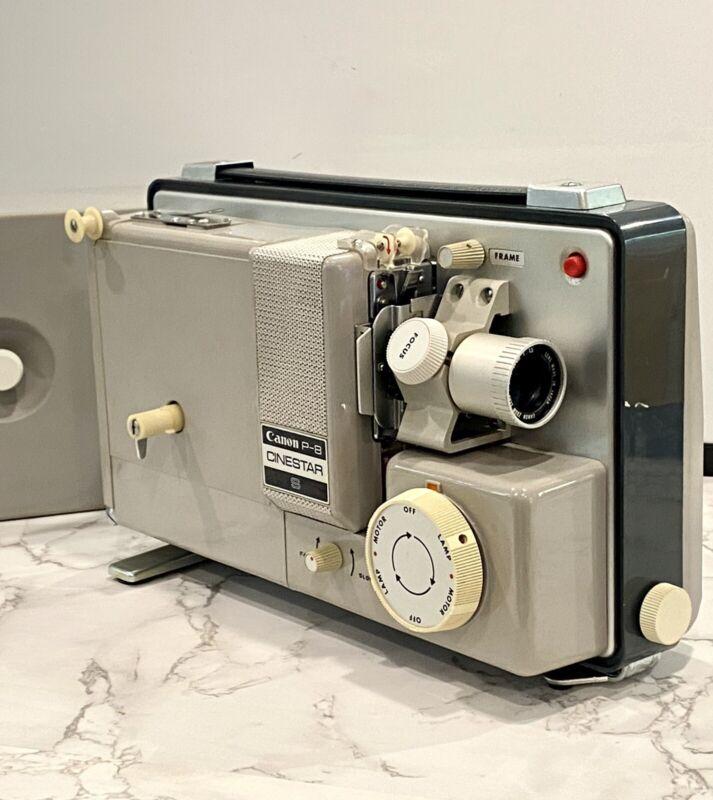Vintage Canon P-8 Cinestar S 8MM Movie Projector Japan 1965