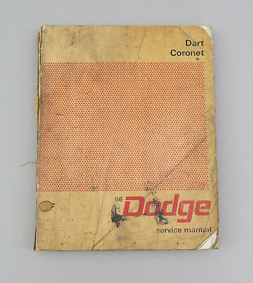 1966 Dodge Dart Coronet 383 426 GT Deluxe Car Service Shop Procedure Manual Book