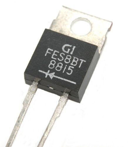 FES8BT, Ultrafast Plastic Rectifier 100V, 8A - Lot of 1, 5, or 10.