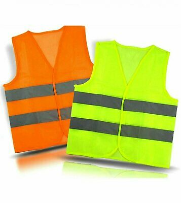 Neon Safety Vest w/ High Visibility Reflective Stripes Green &Yellow Business & Industrial