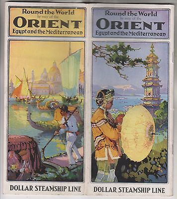 Circa 1925 Brochure   Dollar Steamship Line   Round The World By Way Of Orient