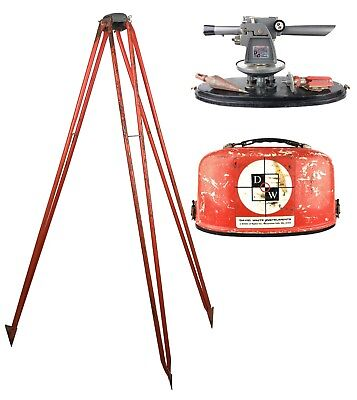 David White Dw-8080 Level Transit In Case W Tripod Plumb Bob Crosshairs Broken