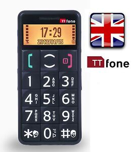 TTfone TT002 Mercury Senior Easy Simple Basic Big Button SOS Mobile Phone  BLACK
