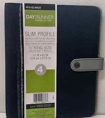 Day Runner 1000-5103 Slim Profile Undated Starter Set Size 4