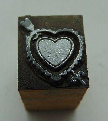 Printing Letterpress Printers Block Small Heart Arrow