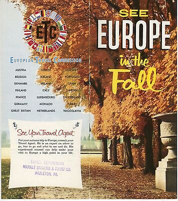 1950s European Travel Commision Travel Brochure ETC Europe in the Fall Tours