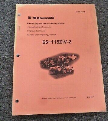 Kawasaki 95ziv-2 Wheel Loader Troubleshooting Diagnostics Shop Service Manual