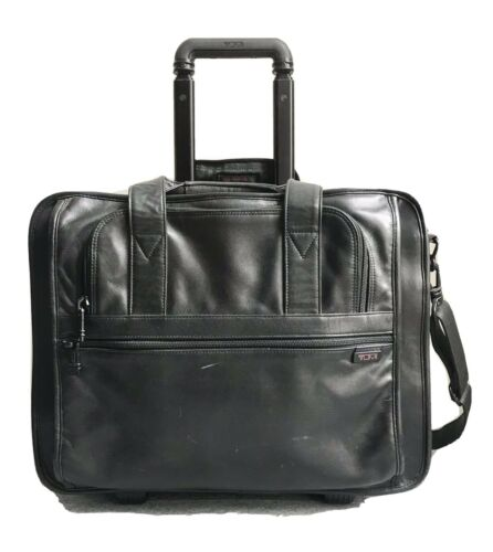 Tumi Pullman Luggage, Black Leather, 18 X 14 X 8 , VG Condition - $84.99