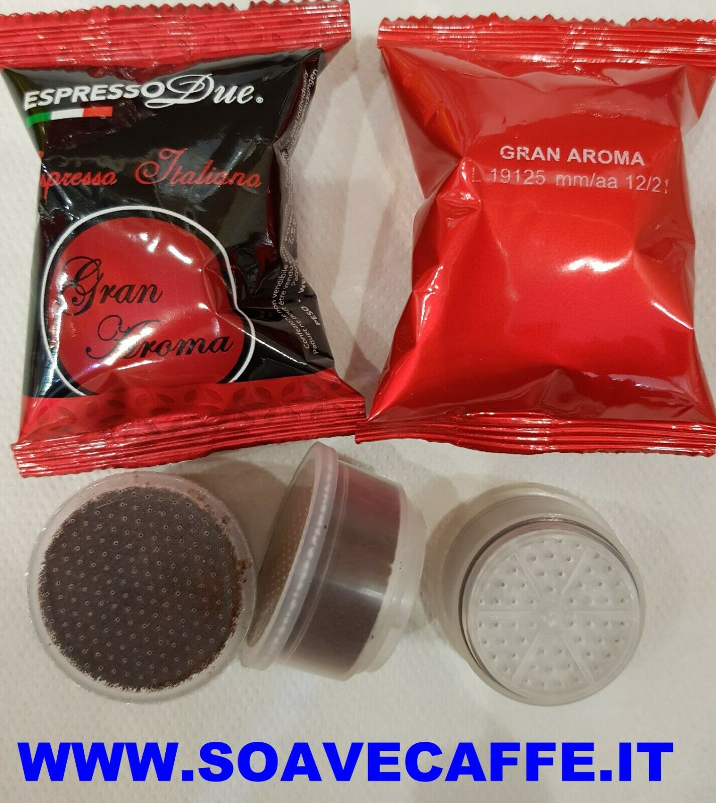 100 Capsule Caffè' Espresso Due Gran Aroma per Macchine easy 315-321 E SIMPLY