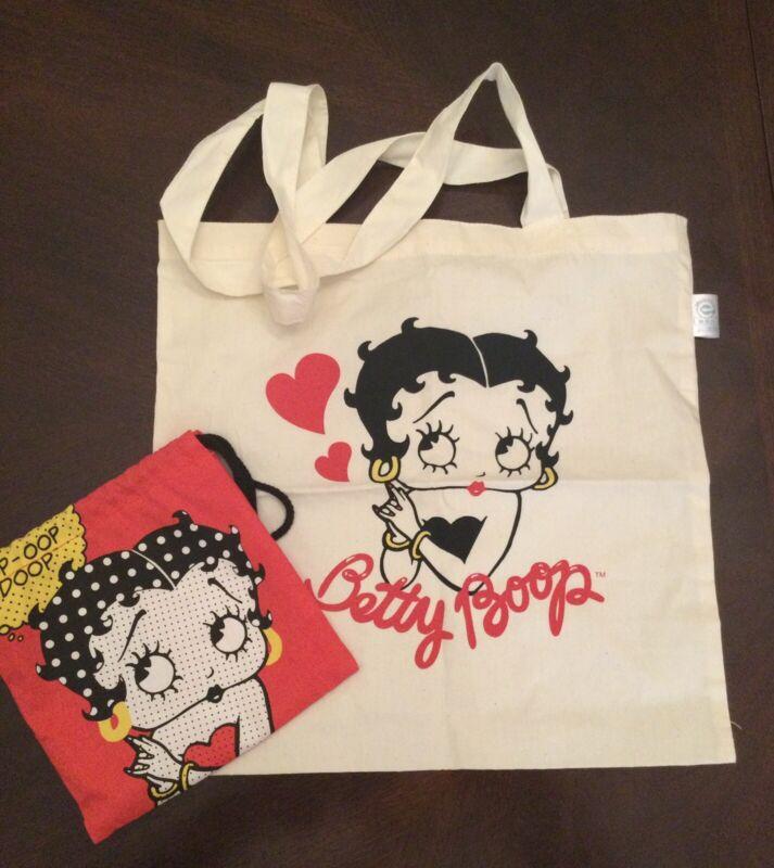 Betty Beep Cotton Tote Bag And Drawstring Bag