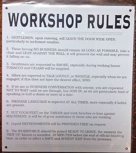 METAL-SIGN-WORKSHOP-RULES-WHAT-NOT-TO-DO-AT-WORK