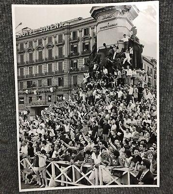 Crowd For President John F Kennedy Naples Italy Visit Original Press Photo E16
