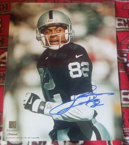 James Jett Hand Signed 8x10 Photo Oakland Raiders