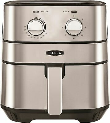 Bella 4qt Analog Air Convection Fryer Stainless Steel