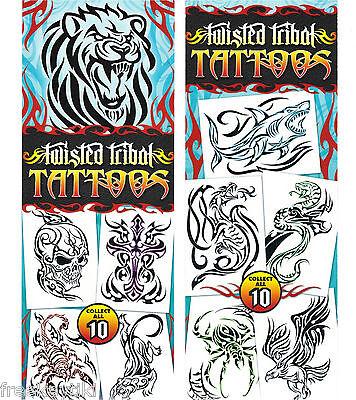 Twisted Tribal Urban Graffiti Tag Tatts Tattoos Complete Set 10 Lion Skull - Shark Tattoos
