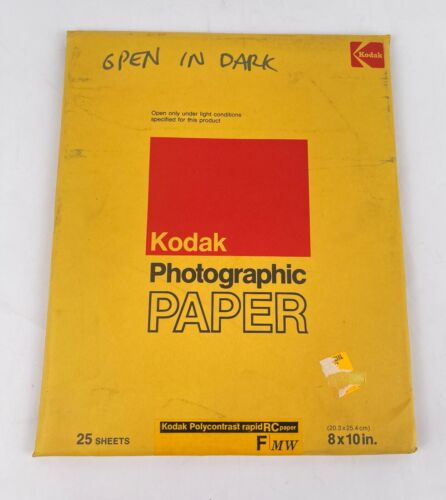 Kodak Polycontrast Rapid Photographic Paper 25 Sheets 8x10