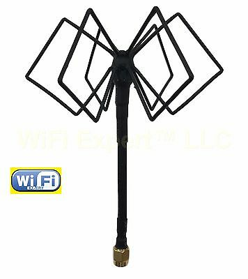 WiFi Antenna 2.4Ghz Omni TRIPLE BiQuad MACH 4S Antenna for FPV LONG RANGE BOOST