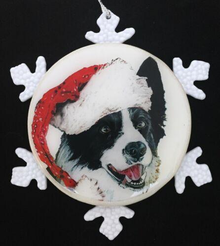 Border Collie Dog - Christmas Ornament