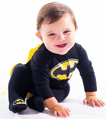 Warner Bros. Batman & Superman Baby Boys' Costume Coveralls with