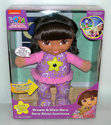 Dora the Explorer Dream and Glow Dora - Lights and Phrases Doll - NIDB
