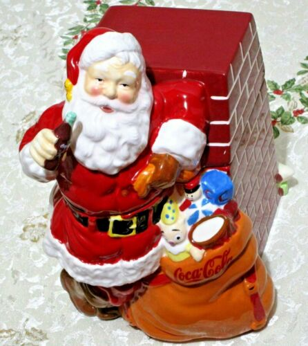 Vintage Coca Cola Santa Claus COOKIE JAR by Gibson, Christmas 2005 Large IOB NEW