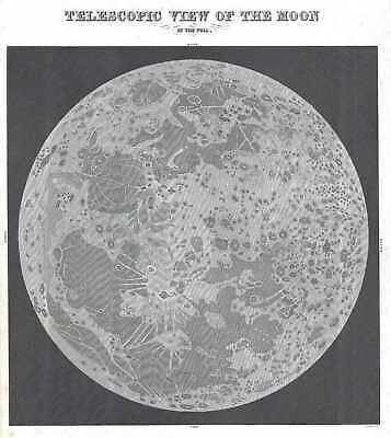1845 Bradford View of a Full Moon
