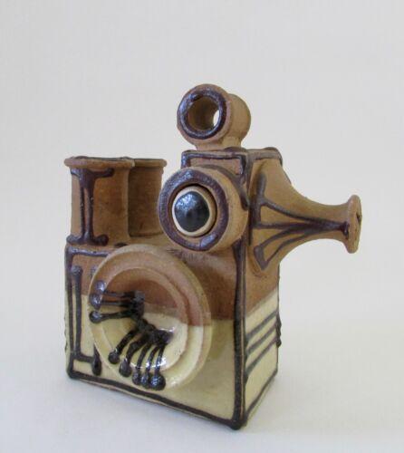 Mid Century Signed Erling K Heerwagen Danish Art Pottery Figural Vase