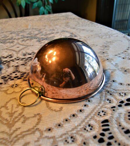 "Copper mixing bowl 6"" diameter with hanger"