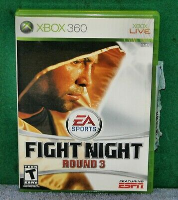 X-BOX 360 VIDEO GAME FIGHT NIGHT ROUND 3 Featuring ESPN for sale  Shipping to India