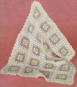 Crochet Blanket Patterns Quick : Baby Pram Rug Blanket Crochet Pattern Quick Easy 369 eBay