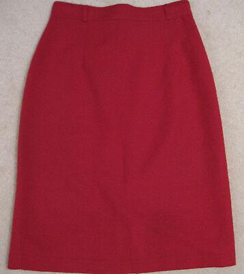 WOMENS RED SHORT CAREER SKIRT 26 waist Size 2 Small petite