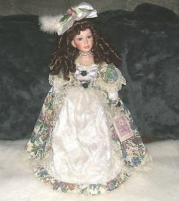 VINTAGE 1980's COLLECTIBLE MEMORIES PORCELAIN DOLL SOPHIA