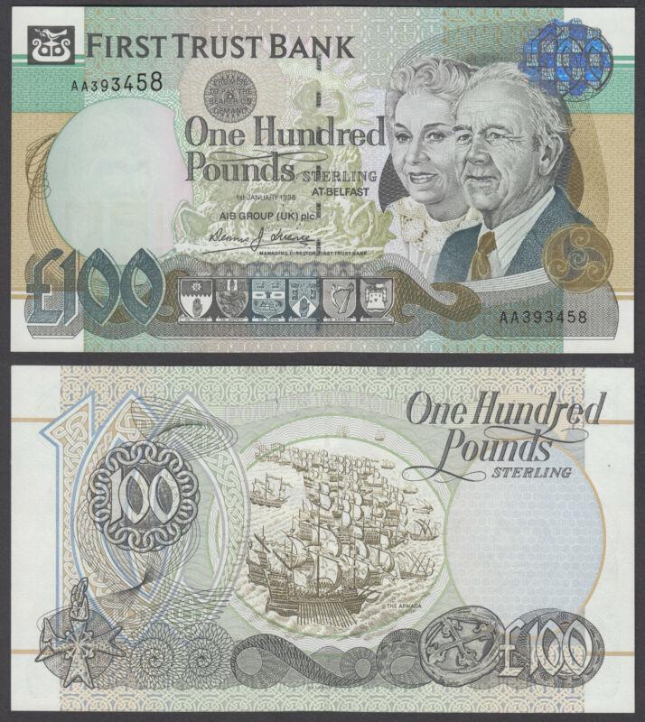 Ireland 100 Pounds 1998 100% UNC CRISP Banknote Northern P-139b