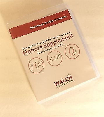 Walch Common Core State Standard Honors Supp Enhanced Teacher Resource Usb Drive