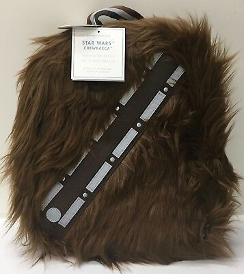 New Pottery Barn Kids Star Wars Furry Chewbacca Backpack With Roar Sound No Mono
