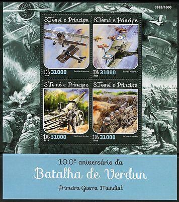 SAO TOME  2016 100th ANNIVERSARY OF THE BATTLE OF VERDUN SHEET  MINT NH