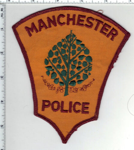 Manchester Police (Connecticut) Uniform Take-Off Shoulder Patch from the 1980
