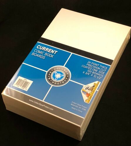 200 NEW CSP Current Comic Bags and Boards Modern Archival Book Storage