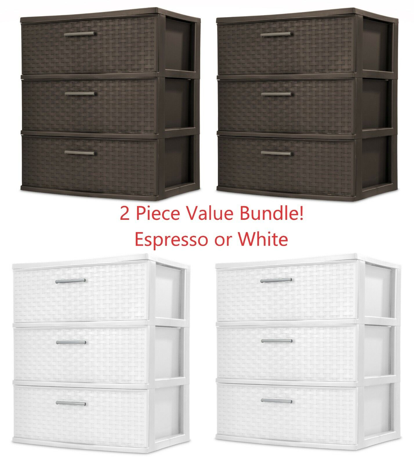 Dresser Storage 3 Drawer Bedroom Dorm Office Furniture Light